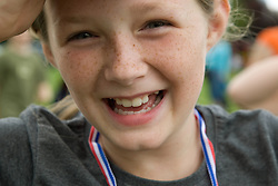 Portrait of a young girl at a Parklife summer activities event,