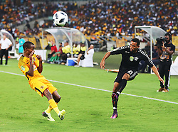 10032018 (Durban) Burds Broderick shield a ball from Kaizer Chiefs player Joseph Malongoane when playing a 3-1 lead against Stellenbosch FC to advance to the next round of the Nedbank Cup when hosting Stellenbosch FC at the Moses Mabhida Stadium. Amakhosi went down 3-1 to arch-rivals Orlando Pirates in a tense Soweto derby match last weekend where they lost ground in their league title chase.Picture: Motshwari Mofokeng/African News Agency/ANA