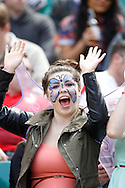 Photo by Andrew Tobin/Tobinators Ltd. Spectators, any in fancy dress, enjoy the action from the IRB London Rugby 7s tournament held at Twickenham Stadium, London on 12th May 2013. New Zealand won the tournament beating Australia in the final, and also won the overall 2012/13 series.