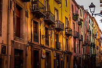 Houses on Corso Vittorio Emanuele II, Bosa, Sardinia