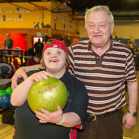 Suzanne Riley with her father Aidan who is the also the coach of the bowling team