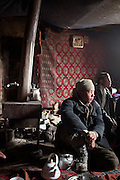 Mujaheed. Family life at the Khan's house.In and around the campment of Kyzyl Qorum, campment of the former deceased Khan, Abdul Rashid Khan..Trekking with yak caravan through the Little Pamir where the Afghan Kyrgyz community live all year, on the borders of China, Tajikistan and Pakistan.