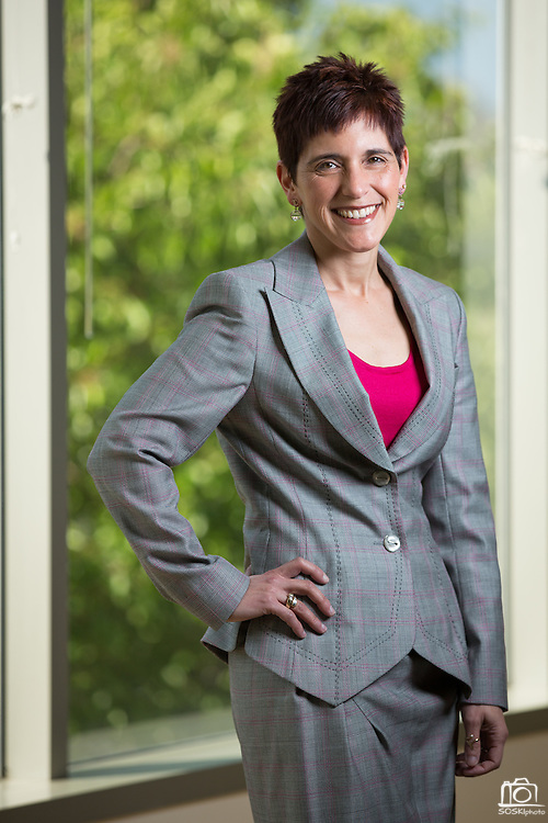 Mallorie Burak, Chief Financial Officer of Rainmaker Systems, Inc., poses for a portrait at the Rainmaker Systems, Inc. campus in Campbell, California, on April 25, 2013. (Stan Olszewski/SOSKIphoto)