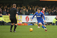 AFC Wimbledon midfielder Jake Reeves (8) dribbling during the EFL Sky Bet League 1 match between AFC Wimbledon and Walsall at the Cherry Red Records Stadium, Kingston, England on 25 February 2017. Photo by Matthew Redman.