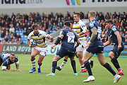 Francois Venter Worcester Warriors during the Gallagher Premiership Rugby match between Sale Sharks and Worcester Warriors at the AJ Bell Stadium, Eccles, United Kingdom on 9 September 2018.
