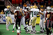 4/12/2007 - Officials try to keep the Frisco and Alaska teams from starting a fight in the first professional football game in Alaska.