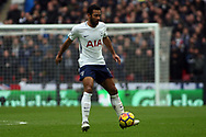 Mousa Dembele of Tottenham Hotspur in action. Premier league match, Tottenham Hotspur v Arsenal at Wembley Stadium in London on Saturday 10th February 2018.<br /> pic by Steffan Bowen, Andrew Orchard sports photography.