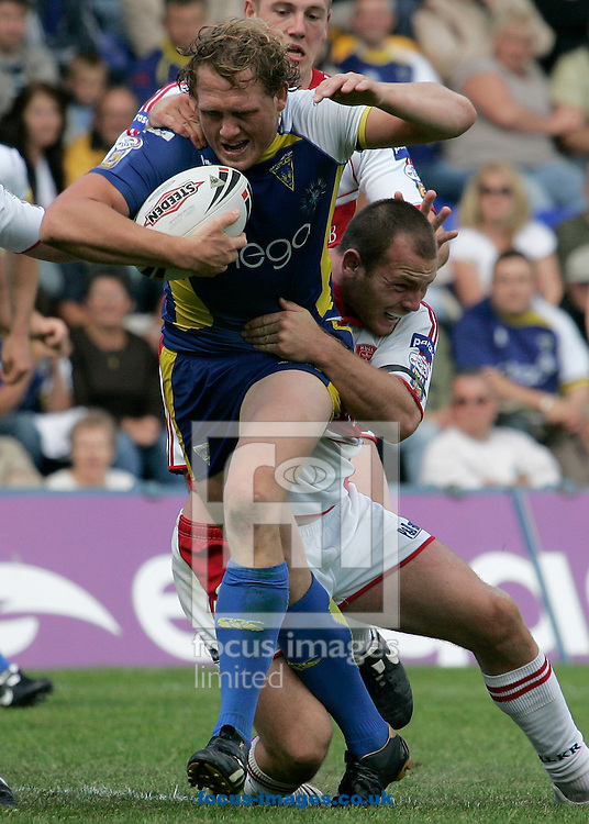 Warrington - Sunday June 15th, 2008: Warrington's Ben Westwood in action against Hull's Rhys Lovegrove during the Engage Super League match at HalliwellJones Stadium, Warrington (Pic by Michael Sedgwick/Focus Images)