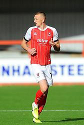 William Boyle of Cheltenham Town- Mandatory by-line: Nizaam Jones/JMP - 10/10/2020 - FOOTBALL - Jonny-Rocks Stadium - Cheltenham, England - Cheltenham Town v Crawley Town - Sky Bet League Two