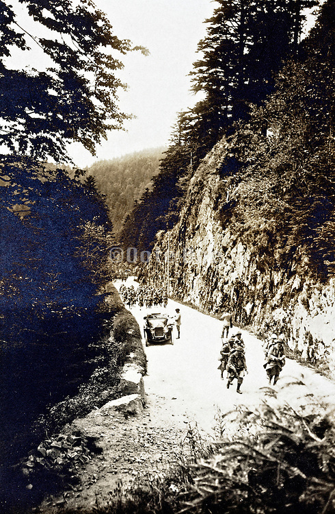 military patrol in the Vosges, Alsace-Lorraine, France 1910s