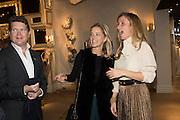 AMERICAN AMBASSADOR MATTHEW BARZUN; BROOKE BARZUN; ELIANNE FATTALL Preview of Pad. Berkeley Sq. London. 12 October 2015