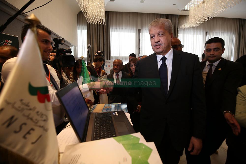 April 25, 2017 - Algiers, Algeria - Prime Minister, Abdelmalek Sellal at the El-Aurassi hotel at the Algeria Forum for emerging companies, in Algiers, Algeria, on April 25, 2017. (Credit Image: © Billal Bensalem/NurPhoto via ZUMA Press)