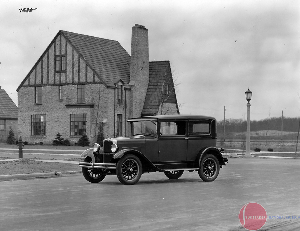 1928 Erskine Club Sedan photographed near South Bend's modern-day Morris Park Country Club.  This image is at the corner of Ironwood and Cedar streets.