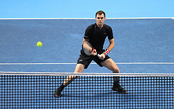 Jamie Murray in action during day four of the NITTO ATP World Tour Finals at the O2 Arena, London.