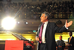 03/05/2010 Gordon Brown addresses the Citizens UK General Election Assembly.