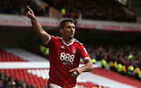 Eric Lichaj sets off in celebration after his goal.
