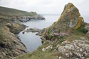 Cornish coast near St Ives, England, UK