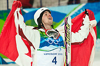 VANCOUVER OLYMPIC GAMES 2010 - VANCOUVER (CAN) - 14/02/2010 - PHOTO : PHILIPPE MILLEREAU / DPPI<br /> FREESTYLE SKIING / MOGULS MEN - ALEXANDRE BILODEAU (CAN) / GOLD MEDAL
