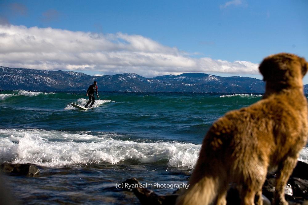 Winter Paddle on Tahoe-