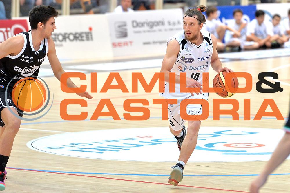 DESCRIZIONE : Trento Lega A 2014-15 <br /> Dolomiti Energia Trento vs Granarolo Bolognaa<br /> GIOCATORE : Forray Toto<br /> CATEGORIA : Palleggio<br /> SQUADRA : Palleggio<br /> EVENTO : Campionato Lega A 2014-2015 GARA :Dolomiti Energia Trento vs Granarolo Bologna<br /> DATA : 10/05/2015 <br /> SPORT : Pallacanestro <br /> AUTORE : Agenzia Ciamillo-Castoria/IvanMancini<br /> Galleria : Lega Basket A 2014-2015 Fotonotizia : Trento Lega A 2014-15 Dolomiti Energia Trento vs Granarolo Bologna<br /> Predefinita: