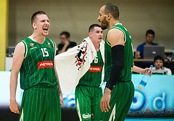 Gregor Hrovat of Petrol Olimpija reacts during basketball match between KK Krka Novo mesto and  KK Petrol Olimpija in 4th Final game of Liga Nova KBM za prvaka 2017/18, on May 27, 2018 in Sports hall Leona Stuklja, Novo mesto, Slovenia. Photo by Vid Ponikvar / Sportida