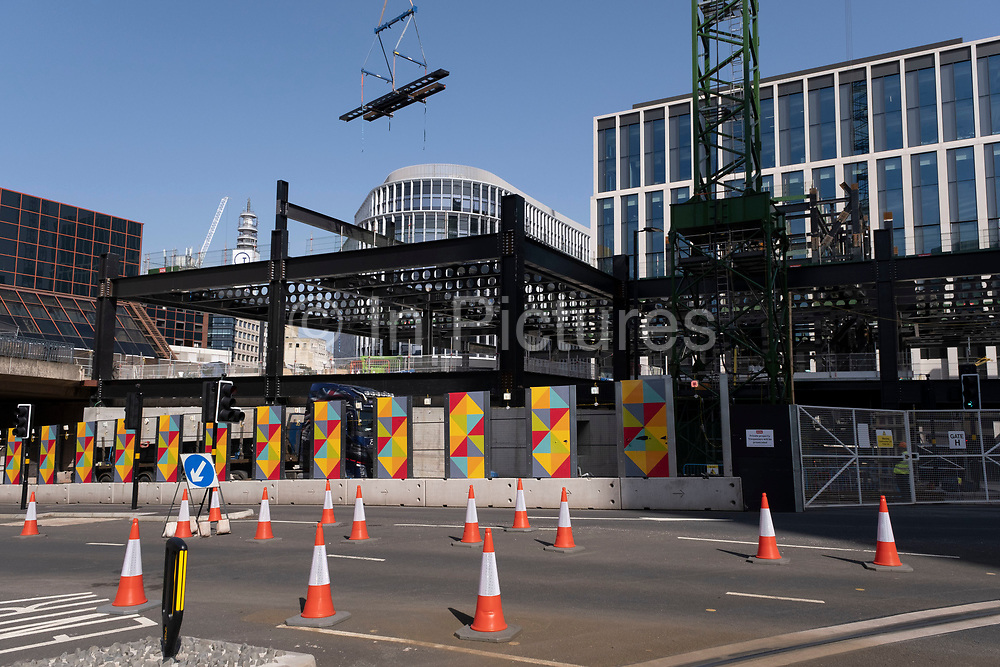 New buildings under construction as part of the Paradise redevelopment on 31st March 2021 in Birmingham, United Kingdom. Paradise, formerly named Paradise Circus, is the name given to an area of approximately 7 hectares in Birmingham city centre between Chamberlain and Centenary Squares. The area has been part of the civic centre of Birmingham since the 19th century. From 2015 Argent Group will redevelop the area into new mixed use buildings and public squares.
