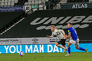 Kamil Jozwiak of Derby County (7) during the EFL Sky Bet Championship match between Derby County and Cardiff City at the Pride Park, Derby, England on 28 October 2020.