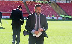 Aberdeen manager Derek McInnes prior to the William Hill Scottish Cup quarter final match at Pittodrie Stadium, Aberdeen.