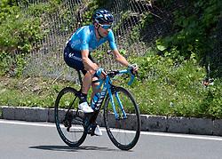 10.07.2019, Fuscher Törl, AUT, Ö-Tour, Österreich Radrundfahrt, 4. Etappe, von Radstadt nach Fuscher Törl (103,5 km), im Bild Eduardo Sepuvelda (ARG, Movistar Team) // Eduardo Sepuvelda of Argentina (Movistar Team) during 4th stage from Radstadt to Fuscher Törl (103,5 km) of the 2019 Tour of Austria. Fuscher Törl, Austria on 2019/07/10. EXPA Pictures © 2019, PhotoCredit: EXPA/ Reinhard Eisenbauer