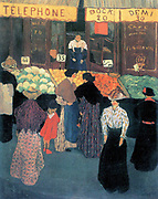 At the market by Felix Vallotton (1865 – 1925) Swiss painter.