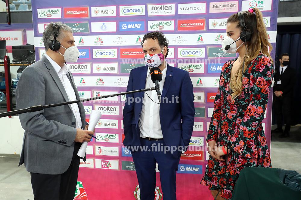 LAVARINI STEFANO (ALLENATORE NOVARA)       <br /> FINAL FOUR COPPA ITALIA PALLAVOLO FEMMINILE<br /> RIMINI 14-03-2021<br /> FOTO FILIPPO RUBIN / LVF