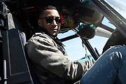 Vertrek van de ambassadeurs van de Vrijheid vanaf vliegbasis Gilze Rijen . De Ambassadeurs van de Vrijheid zullen dankzij de inzet van Defensie optreden op de veertien Bevrijdingsfestivals. <br /> <br /> OP de foto / On the photo: Sunnery James