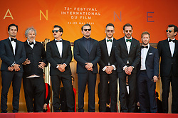 Eric Vergne, Orlando Bloom, Leonardo DiCaprio, Alejandro Agag, Andre Lotterer, Sam Bird, Malcolm Venville and Nelson Piquet Jr. arriving on the red carpet of 'The Traitor (Il Traditore)' screening held at the Palais Des Festivals in Cannes, France on May 23, 2019 as part of the 72th Cannes Film Festival. Photo by Nicolas Genin/ABACAPRESS.COM
