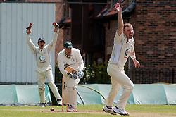 Cricket Wickersley v Whitley Hall,  Whitley Hall appeal for LBW of Wickersley No 4 batsman  Richard Harrison..12  May 2012.Image © Paul David Drabble