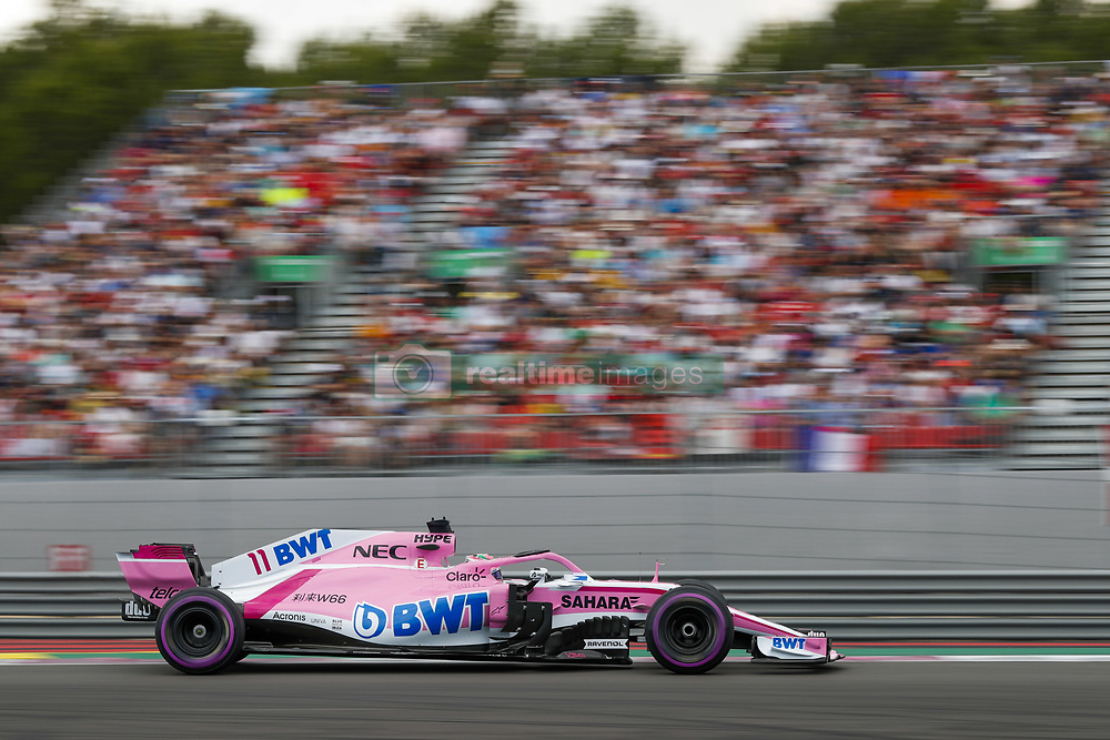 June 23, 2018 - Le Castellet, France - Motorsports: FIA Formula One World Championship 2018, Grand Prix of France, .#11 Sergio Perez (MEX, Sahara Force India F1 Team) (Credit Image: © Hoch Zwei via ZUMA Wire)