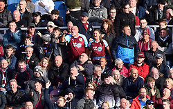 Burnley fans in the stands during the Premier League match at Turf Moor, Burnley