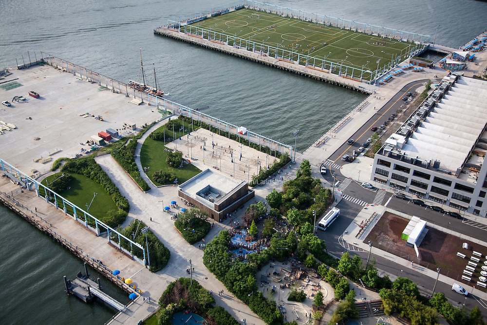 Piers 4 and 5 of Brooklyn Bridge Park, designed by Michael Van Valkenburgh Associates