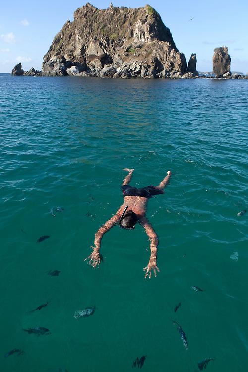 Snorkling at Fernando de Noronha, Brazil.