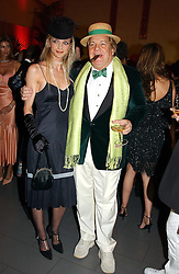 Actress SARAH MARSHALL and actor MASSIMO GARGIA at Andy & Patti Wong's Chinese New Year party to celebrate the year of the Rooster held at the Great Eastern Hotel, Liverpool Street, London on 29th January 2005.  Guests were invited to dress in 1920's Shanghai fashion.<br /><br />NON EXCLUSIVE - WORLD RIGHTS
