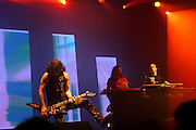 The international/Israeli trance band Infected mushroom in a special performance with the trance artist Skazi for the israeli crowd celebrating a decade of activity. Nov 11, 2007.
