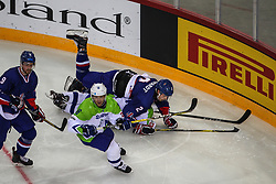 Ales Music of Slovenia during Ice Hockey match between National Teams of Great Britain and Slovenia in Round #1 of 2018 IIHF Ice Hockey World Championship Division I Group A, on April 22, 2018 in Budapest, Hungary. Photo by David Balogh / Sportida