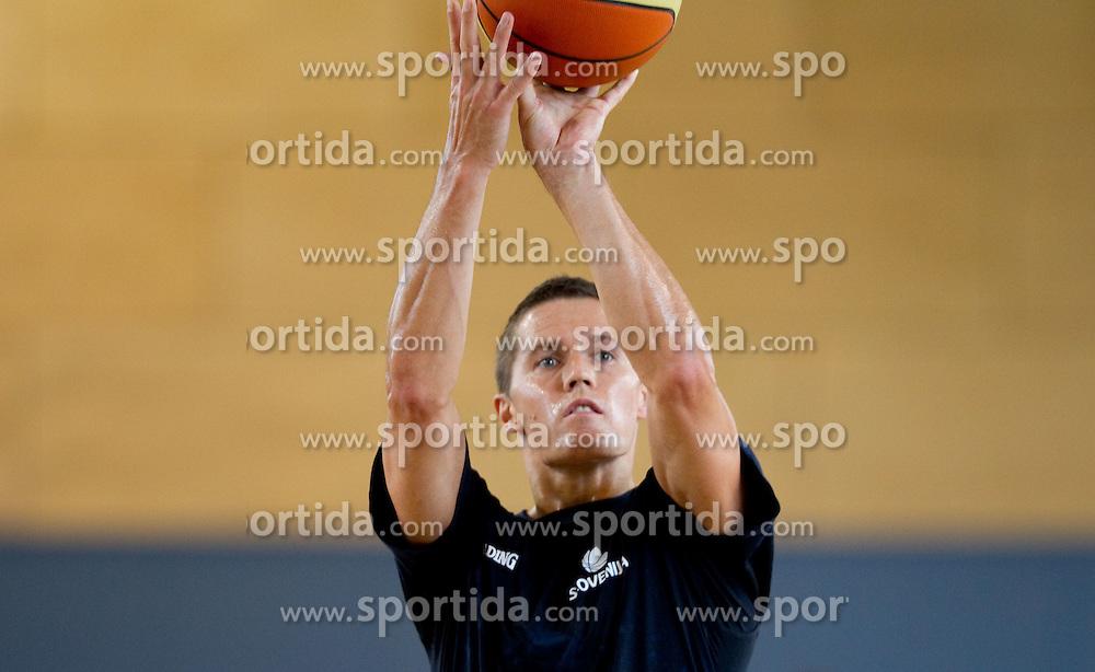 Jaka Lakovic during media day at training camp of Slovenian National Basketball team for Eurobasket Lithuania 2011, on July 19, 2011, in Arena Ljudski vrt, Ptuj, Slovenia.  (Photo by Vid Ponikvar / Sportida)