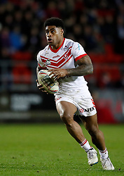 St Helens Saints' Kevin Naiqama in action against London Broncos, during the Betfred Super League match at the Totally Wicked Stadium, St Helens.