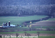 PA landscapes, Early Spring, Forest and Farm, Northern Dauphin Co., Pennsylvania