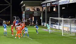 Frankie Kent of Peterborough United scores his sides equalising goal against Blackpool - Mandatory by-line: Joe Dent/JMP - 21/11/2020 - FOOTBALL - Weston Homes Stadium - Peterborough, England - Peterborough United v Blackpool - Sky Bet League One