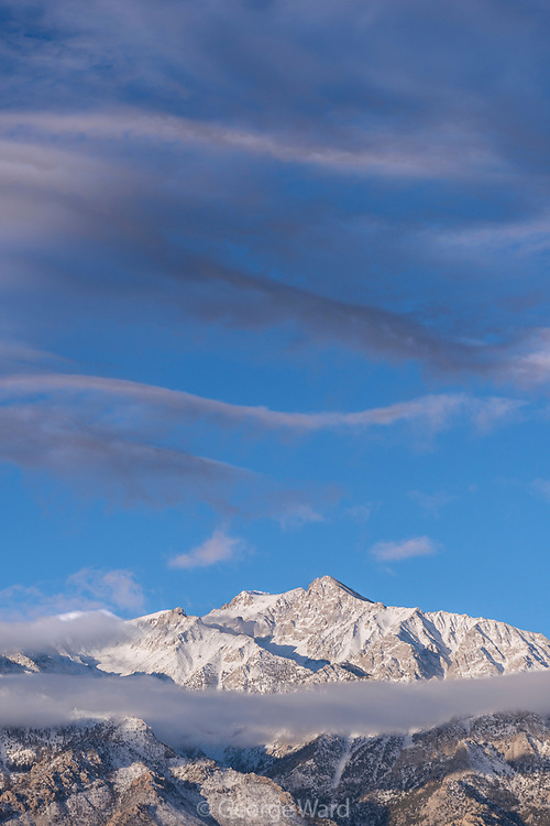 Mount Williamson and Cloud Formations, BLM Lands, Inyo County, California