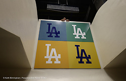 October 24, 2017 - Los Angeles, California, U.S. - Los Angeles Dodgers employee Jeanette Rosales keeps an eye out on the escalators prior to game one of a World Series baseball game between the Houston Astros and the Los Angeles Dodgers at Dodger Stadium on Tuesday, Oct. 24, 2017 in Los Angeles. (Photo by Keith Birmingham, Pasadena Star-News/SCNG) (Credit Image: © San Gabriel Valley Tribune via ZUMA Wire)