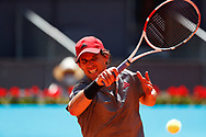 Dominic Thiem of Austria in action during his Men's Singles match, Quarter of Finals, against John Isner of United States on the Mutua Madrid Open 2021, Masters 1000 tennis tournament on May 7, 2021 at La Caja Magica in Madrid, Spain - Photo Oscar J Barroso / Spain ProSportsImages / DPPI / ProSportsImages / DPPI