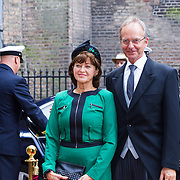 NLD/Den Haag/20130917 -  Prinsjesdag 2013, Minister van Economische zaken Henk Kamp en partner …..