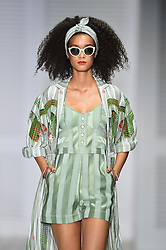 Models on the catwalk at the Temperley London Fashion Week SS18 show, held at the Lindley Hall, London. Picture date: Sunday September 17th, 2017. Photo credit should read: Matt Crossick/ EMPICS Entertainment.
